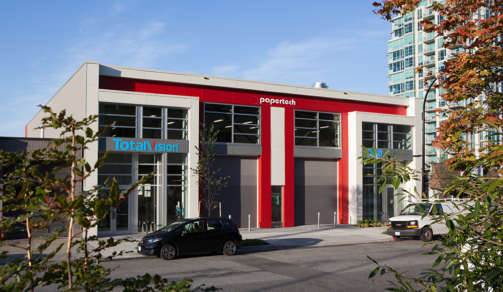 Papertech's head office in North Vancouver BC