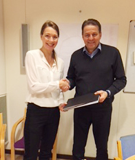 Papertech European Business Manager Seppo Toivonen with Ms. Elin Björkholm from Holmen Paper Braviken